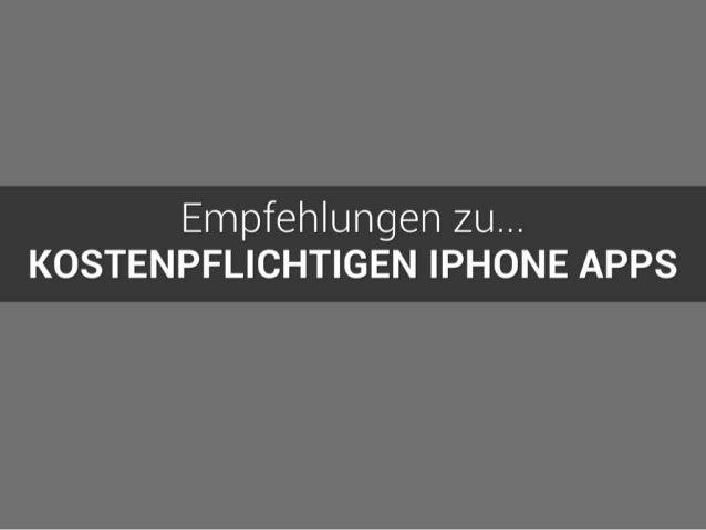 Kostenpflichtige iPhone Apps | Eine Empfehlung