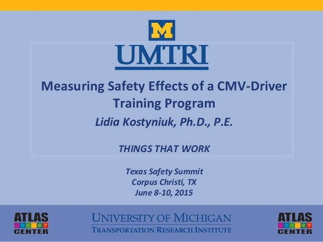 Measuring Safety Effects Of Commercial Motor Vehicle
