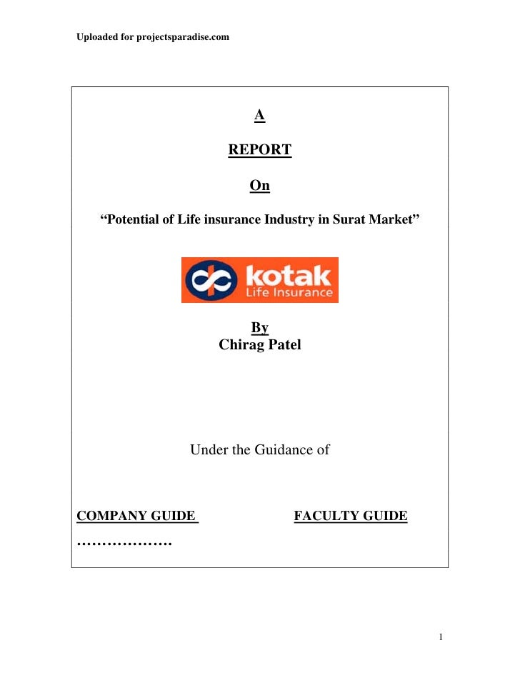 Kotak Life Insurance Project