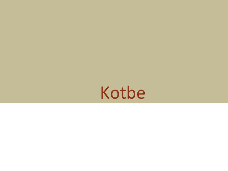 Kotbe final Demo