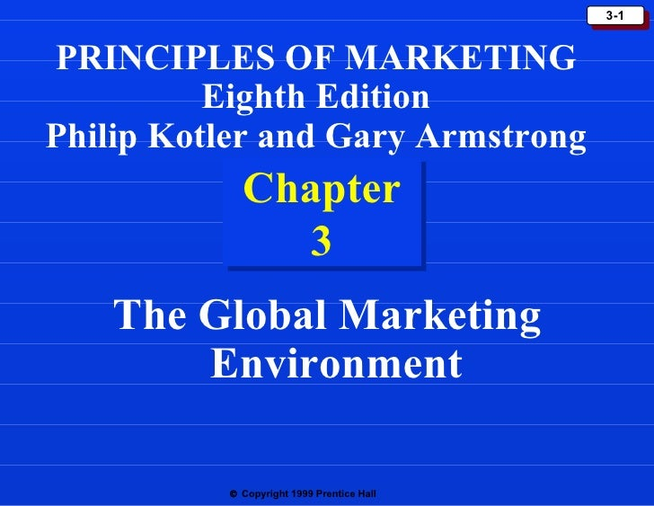 Chapter 3 The Global Marketing Environment PRINCIPLES OF MARKETING Eighth Edition Philip Kotler and Gary Armstrong
