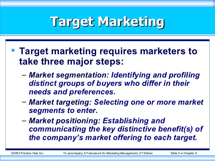 segmentation and target Online marketing success depends on segmenting to find your target market (or markets) and targeting your marketing strategy (message, products, service options) to.