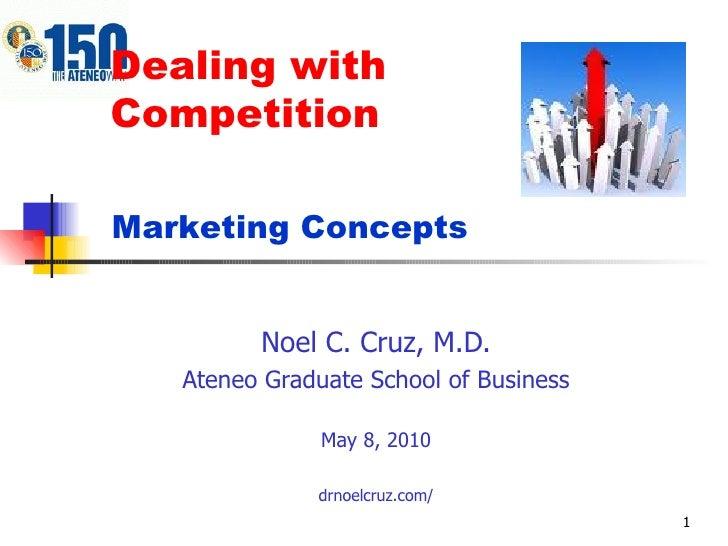 Dealing with  Competition Noel C. Cruz, M.D. Ateneo Graduate School of Business May 8, 2010 drnoelcruz.com/ Marketing Conc...
