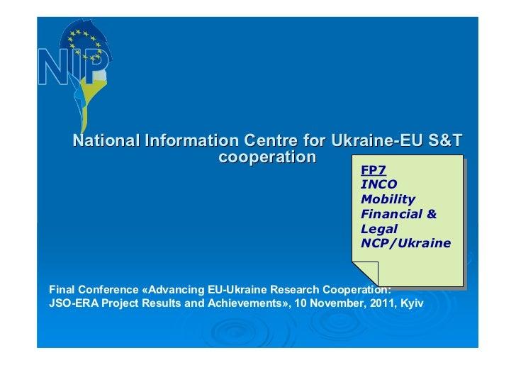 National Information Centre for Ukraine-EU S&T                      cooperation                                           ...