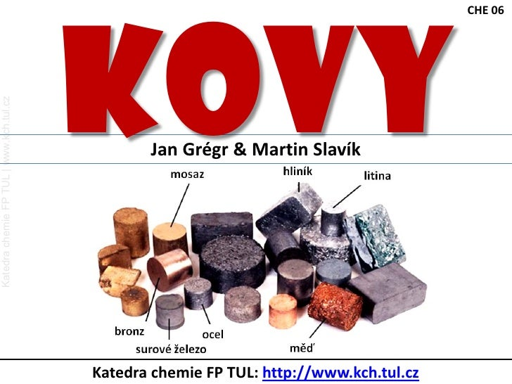 KOVY<br />jsou prvky, které mají ve valenční vrstvě málo elektronů <br />snadno uvolňují elektrony <br />tvoří tak kationt...