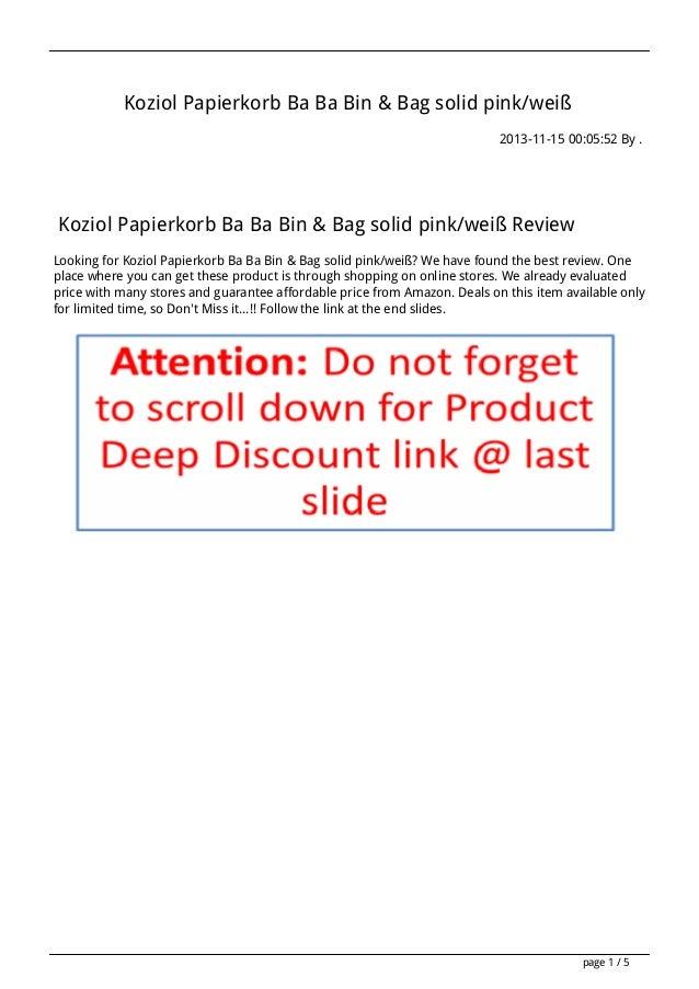 Koziol Papierkorb Ba Ba Bin & Bag solid pink/weiß 2013-11-15 00:05:52 By .  Koziol Papierkorb Ba Ba Bin & Bag solid pink/w...