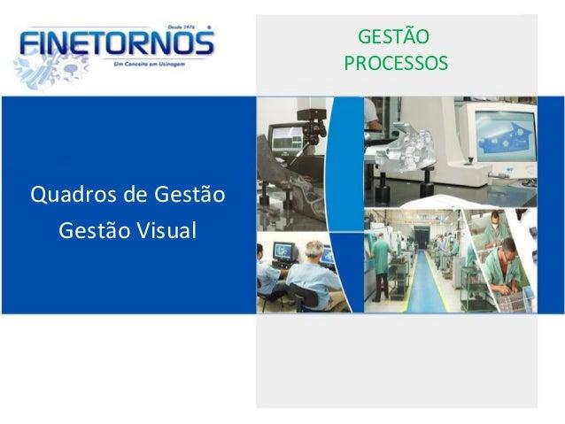 GESTÃO PROCESSOS Quadros de Gestão Gestão Visual