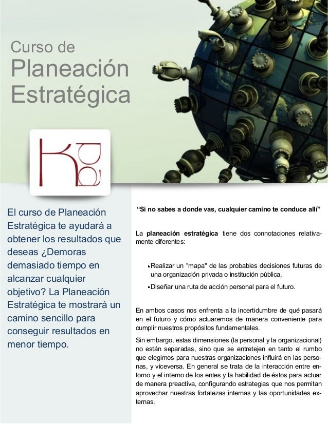 Kpa Curso de Planeacion Estrategica