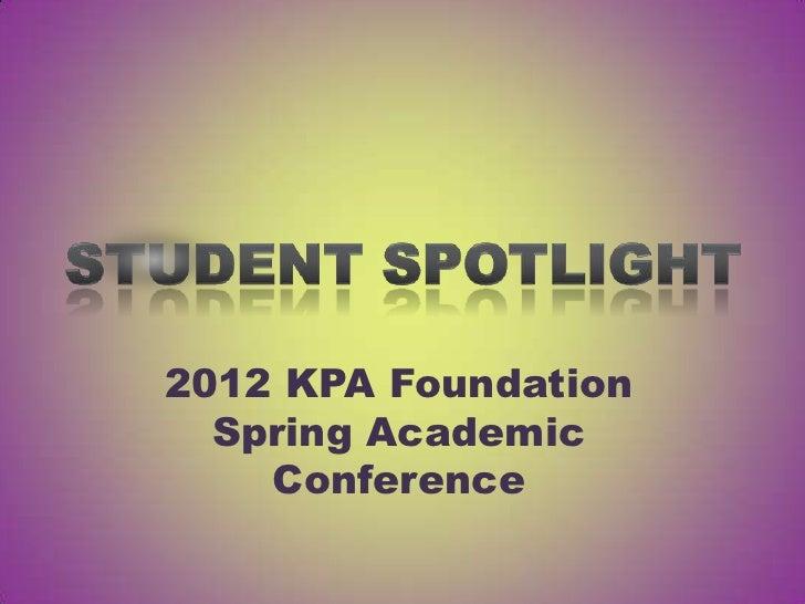 KPA Foundation Student Spotlight