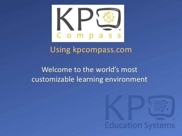 KP Compass Teacher Training Slides