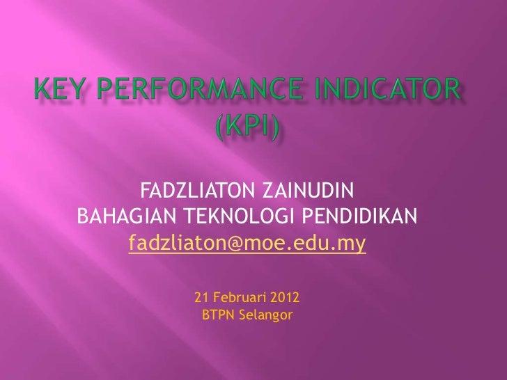 Key Performance Indicator (KPI) BTP