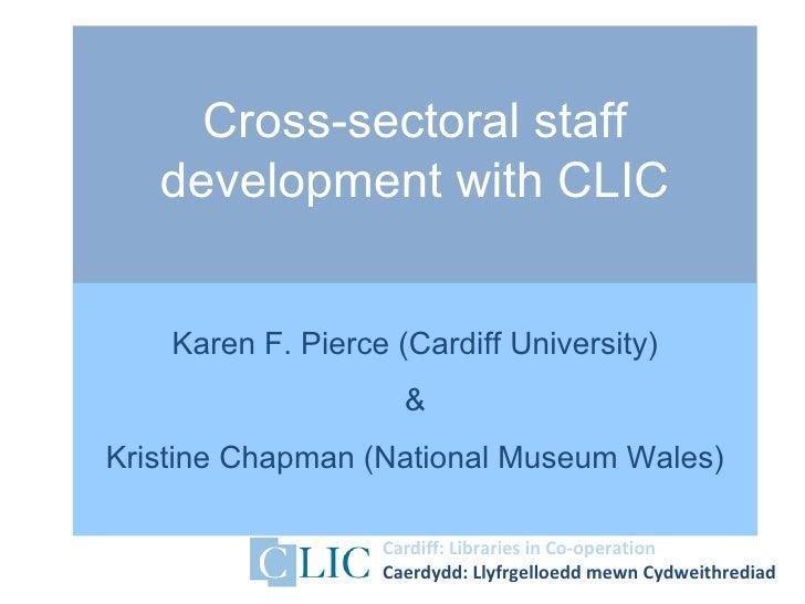 Karen Pierce and Kristine Chapman CDG2012 - Cross-sectoral staff development with CLIC