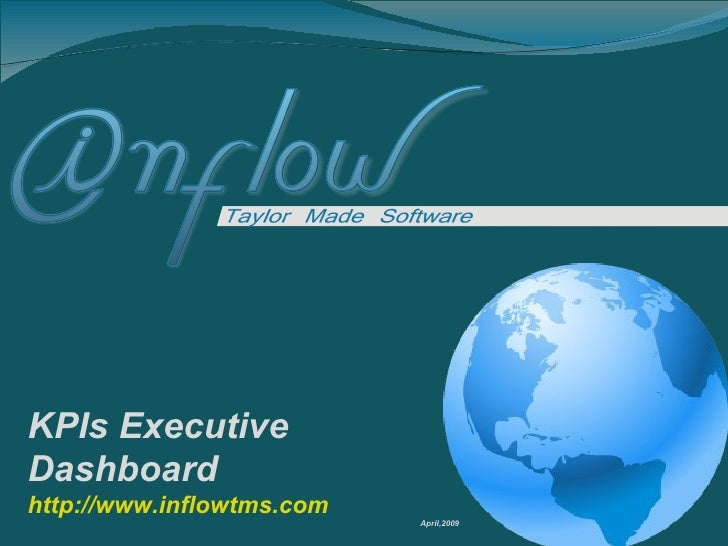 KPIs Executive Dashboard http://www.inflowtms.com April,2009
