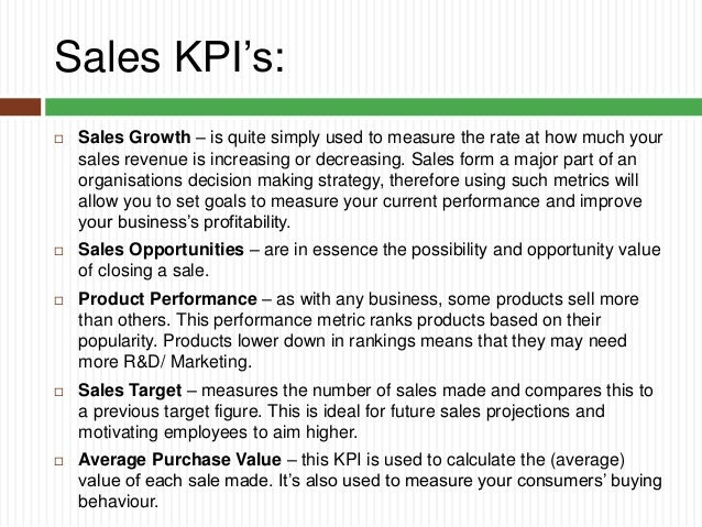 Key performance indicators you should know for Sales key performance indicators template