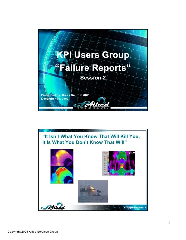 KPI Users Group-  Failure Reports, Session 2_Dec09 Ajc[1]