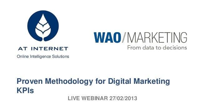 Online Intelligence SolutionsProven Methodology for Digital MarketingKPIs                            LIVE WEBINAR 27/02/2013