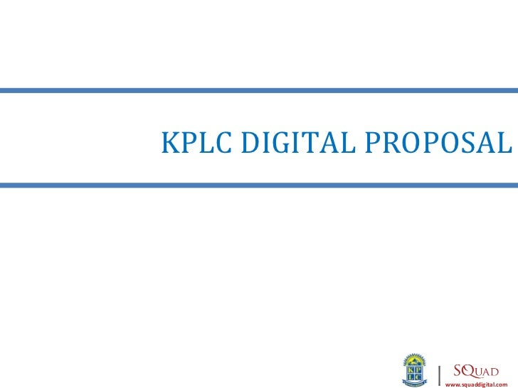 Kplc digital proposal