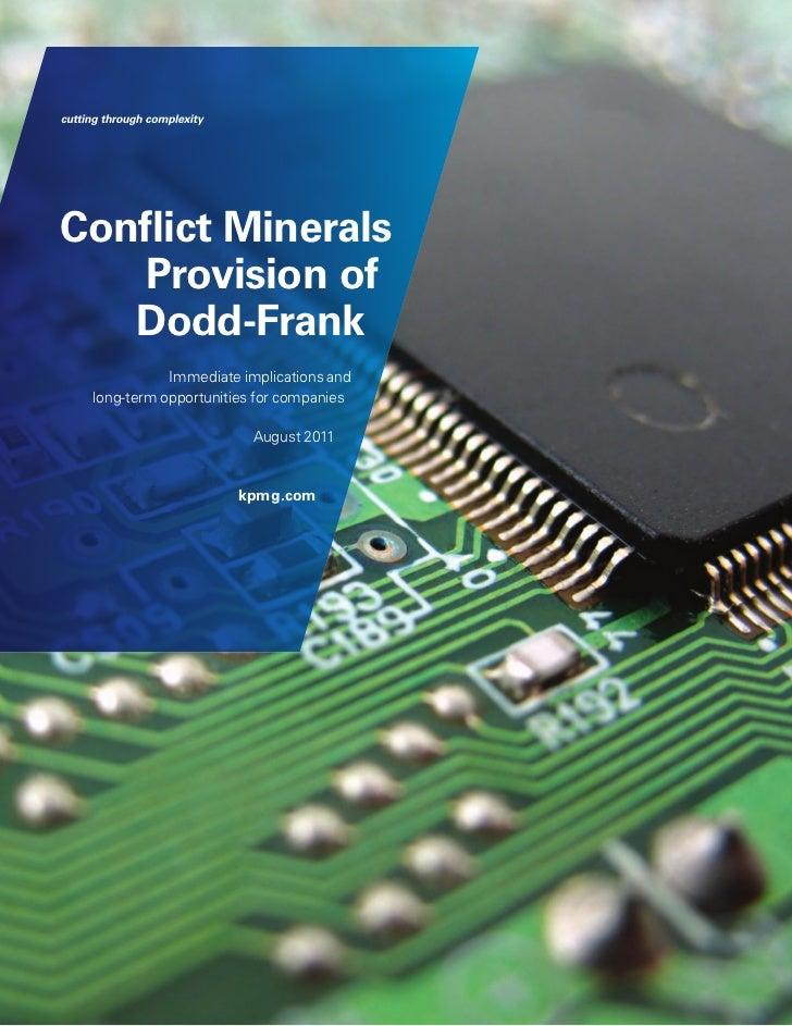 KPMG:  Conflict Minerals (August 2011)