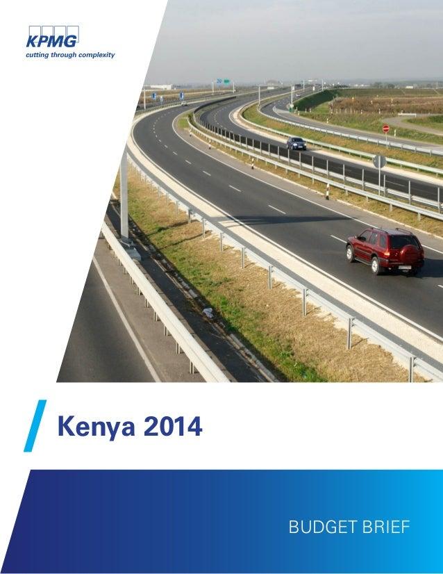Kenya 2014 BUDGET BRIEF