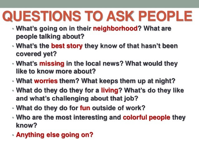 questions to ask someone for a profile essay Do you have a favorite design to make on people 4 go what profile essay questions may i ask while when you ask questions you will start forming a.