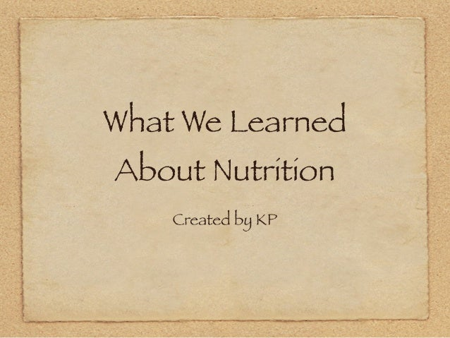 Nutrition by KP