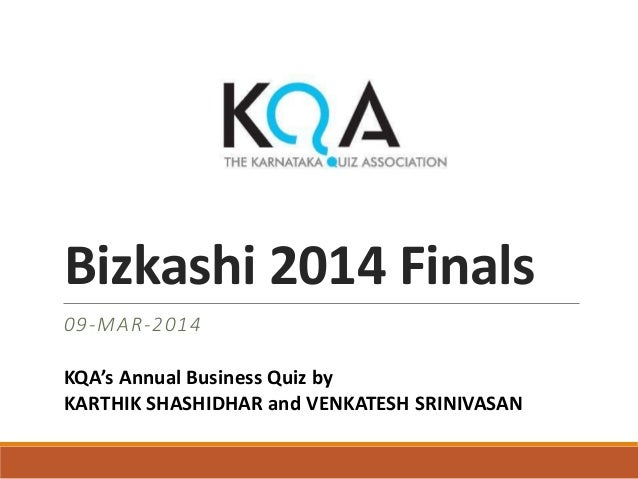KQA Bizkashi Business Quiz 2014 finals