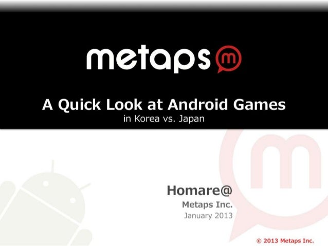 A Quick Look at Android Games in Korea vs Japan