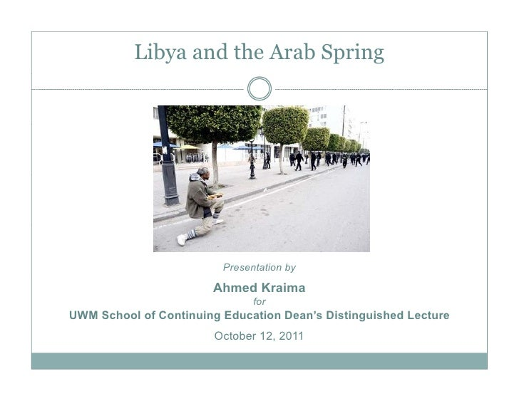 LIbya and the Arab Spring