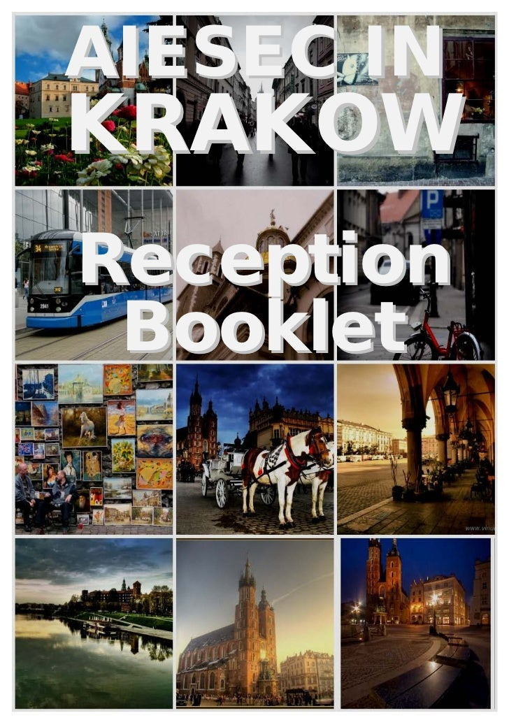 Krakow reception booklet
