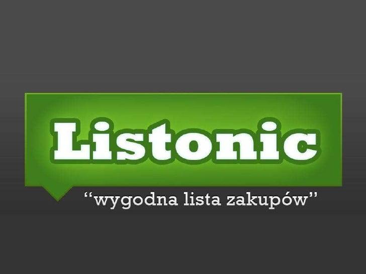 Słowo wstępu     • Lista zakupów dostępna w Internecie      i na telefonie komórkowym         • Zawsze przy Tobie    • Pra...