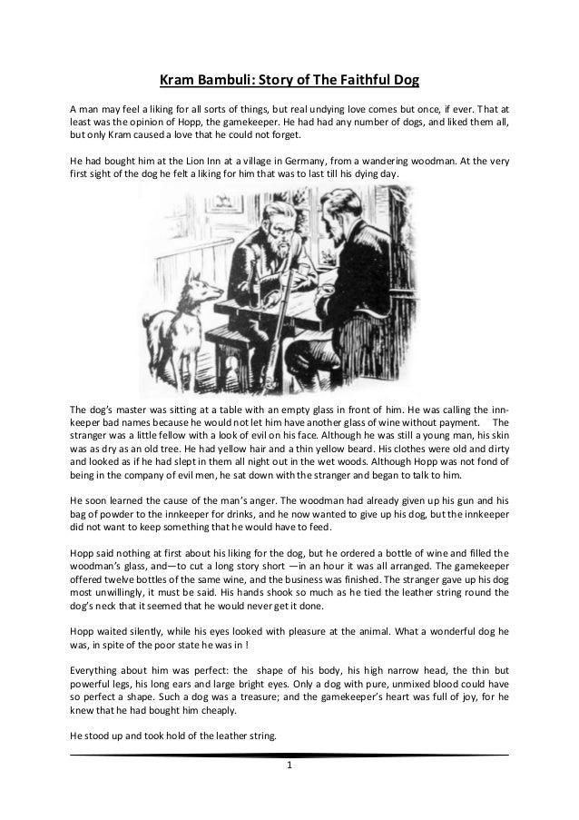 Kram bambuli story of the faithful dog