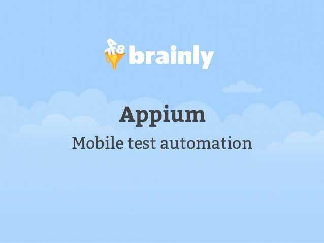 Appium Mobile test automation