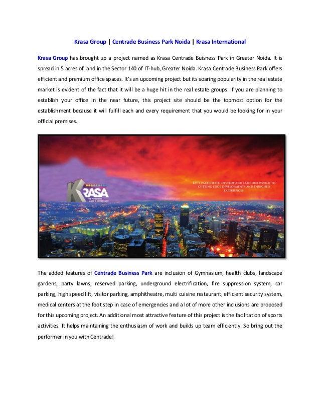 Krasa Group | Centrade Business Park Noida | Krasa International Krasa Group has brought up a project named as Krasa Centr...
