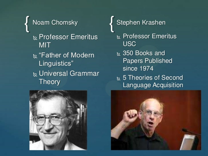 a comparison of noam chomskys analysis of language acquisition and bf skinners explanation