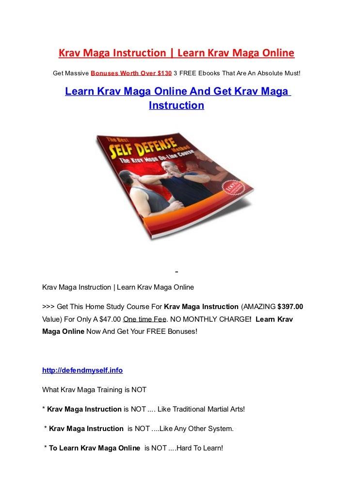 Learn Krav Maga Online