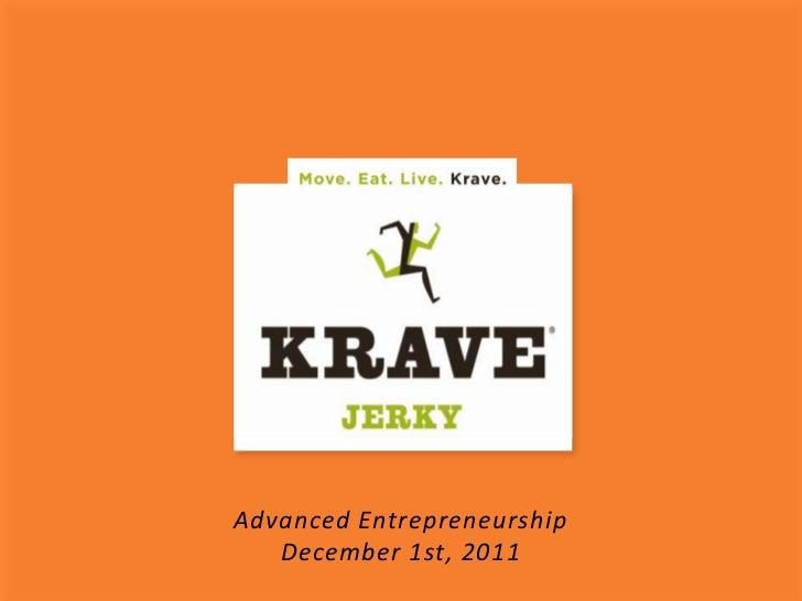 Advanced Entrepreneurship   December 1st, 2011