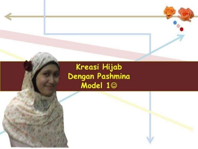 Kreasi Hijab Pashmina Model 1