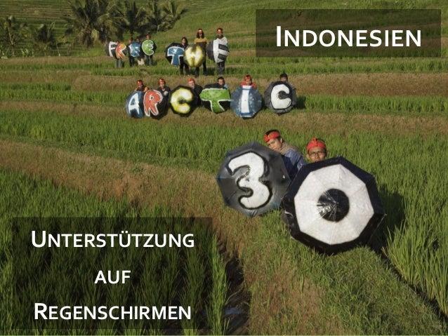 1  INDONESIEN  UNTERSTÜTZUNG AUF  REGENSCHIRMEN