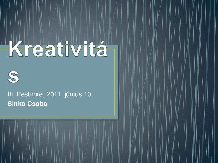 Ifjúsági óra a kreativitásról