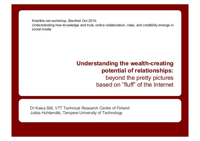 Kredible.net workshop, Stanford Oct 2014: Understanding how knowledge and trust, online collaboration, roles, and credibil...