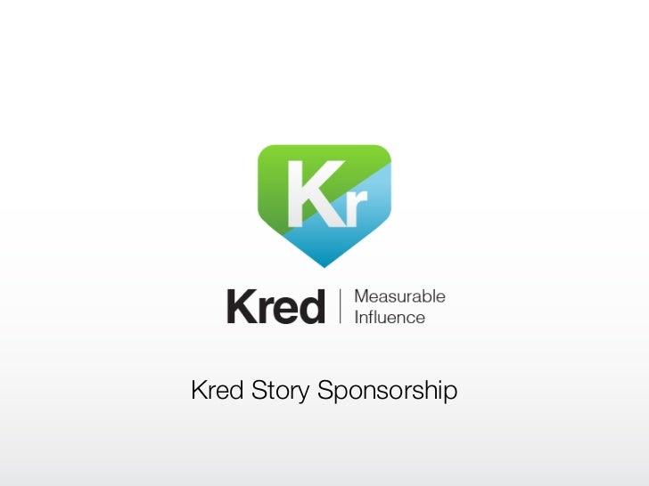 Kred Story Sponsorship