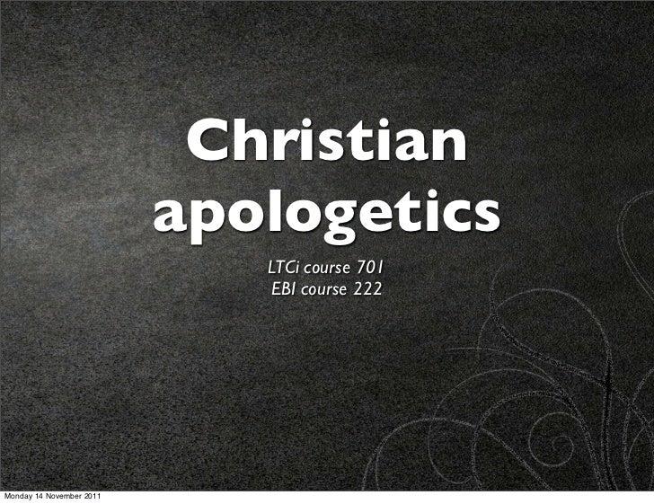 Kreeft 1: Apologetics