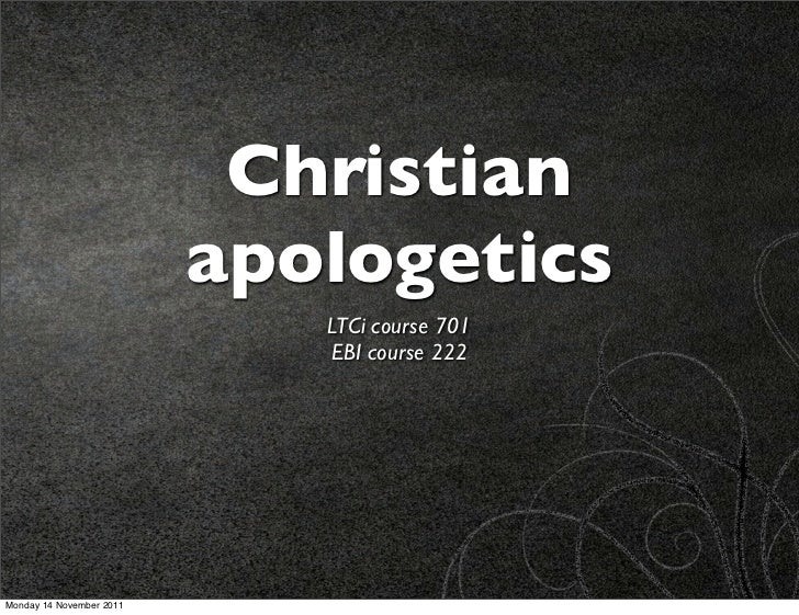 Kreeft 1: Apologetics