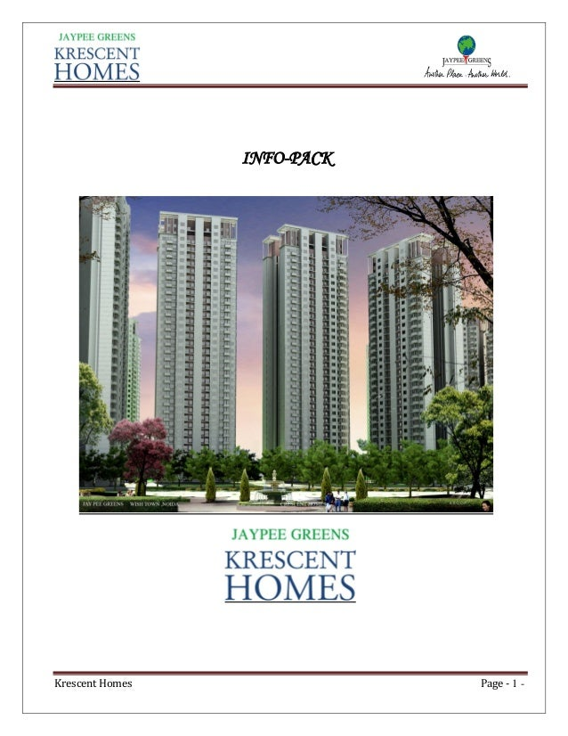INFO-PACK  Krescent Homes  Page - 1 -