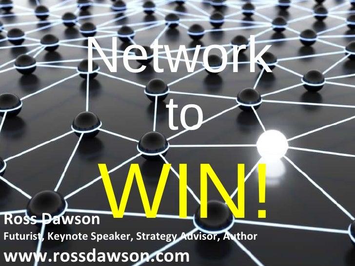 Network to Win! Keynote presentation at Kreston International Global Conference