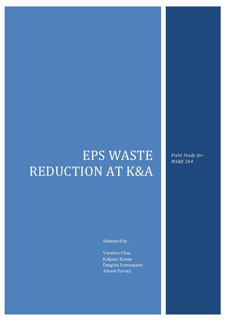 Kreysler & Associates Field Study (EPS Reduction)