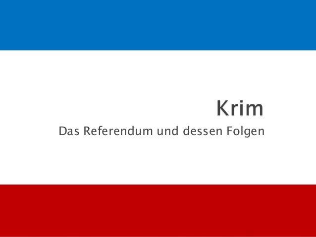 Das Referendum und dessen Folgen