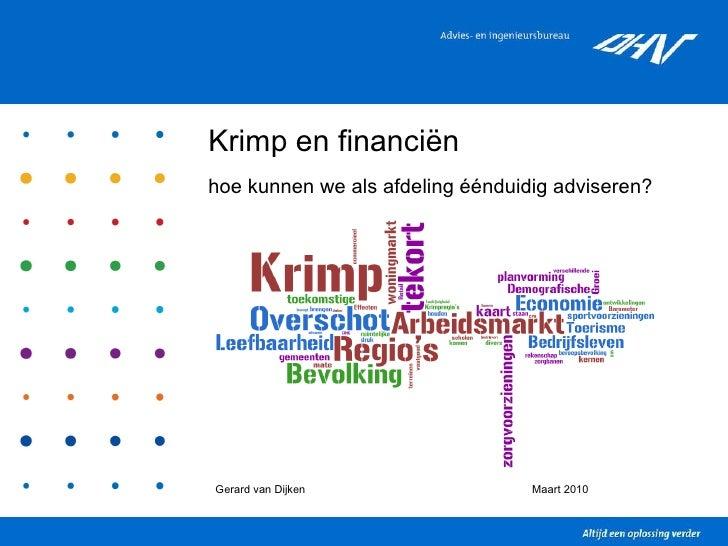 Bevolkingskrimp en Financiën