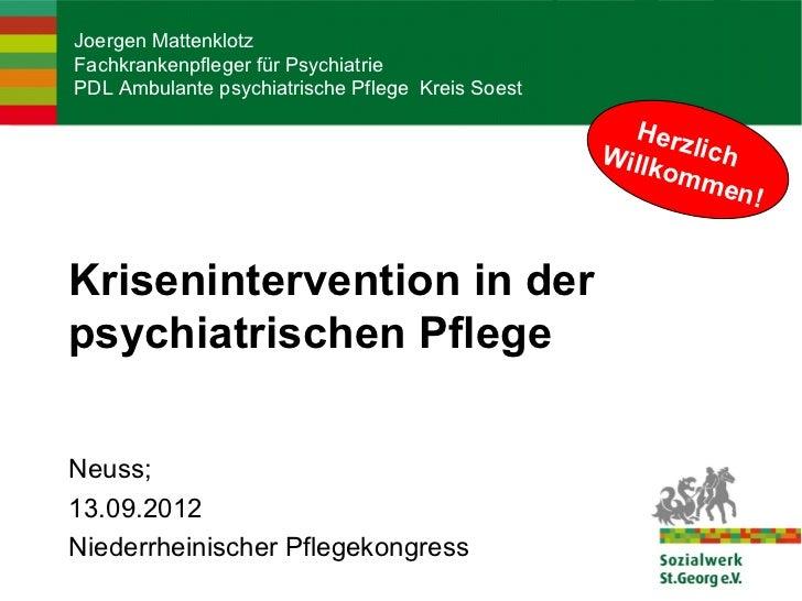 Joergen MattenklotzFachkrankenpfleger für PsychiatriePDL Ambulante psychiatrische Pflege Kreis Soest                      ...