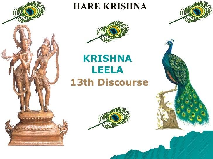 HARE KRISHNA KRISHNA LEELA 13th Discourse